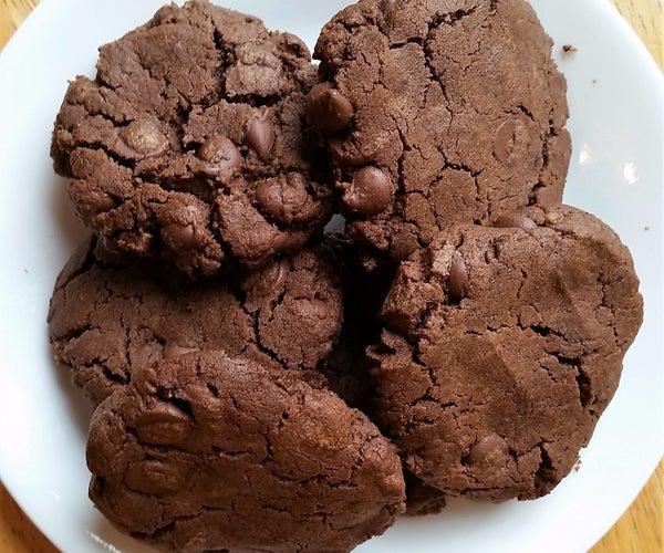 Chocolate Chocolate Chip Cookies! (Flourless, Gluten Free, GF, Nut Butter)