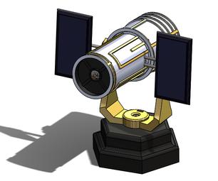 Hubble Telescope With Polar Mount and ESPCAM