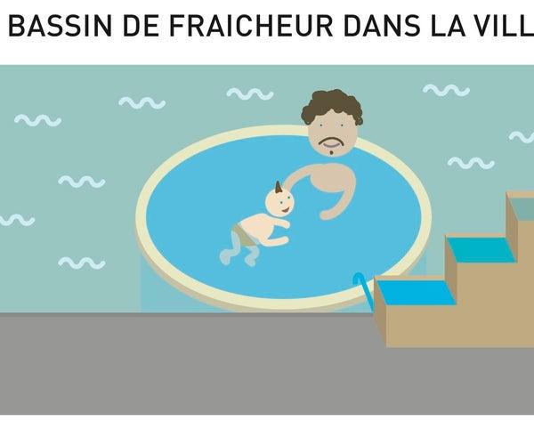 """""""Ce Rêve Bleu"""", Un Bassin Flottant D'eau Purifiée"""