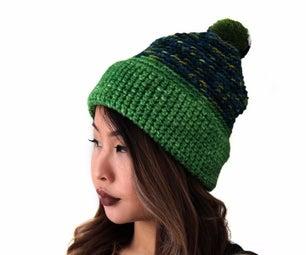 How to Crochet an Alpine Pom Pom Hat
