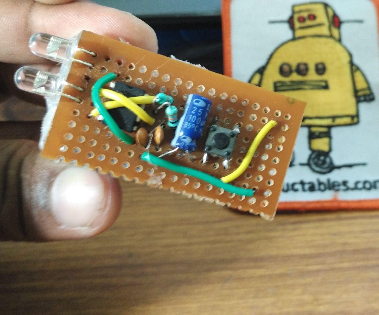 Hand made IR remote