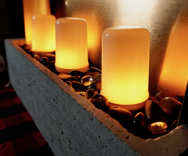 LED Concrete Tabletop Fireplace