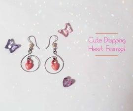 Cute Dropping Heart Earrings!