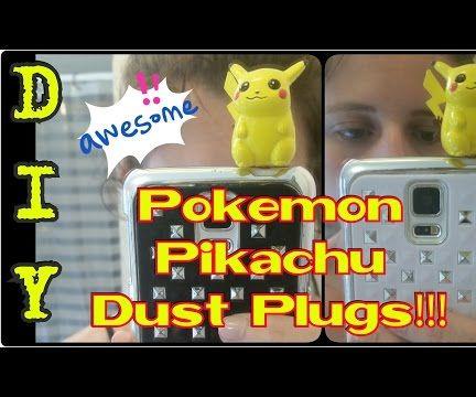 DIY Pokemon Pikachu Dust Plugs