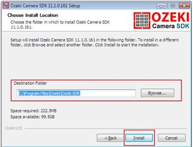 STEP 3: Install Ozeki Camera SDK
