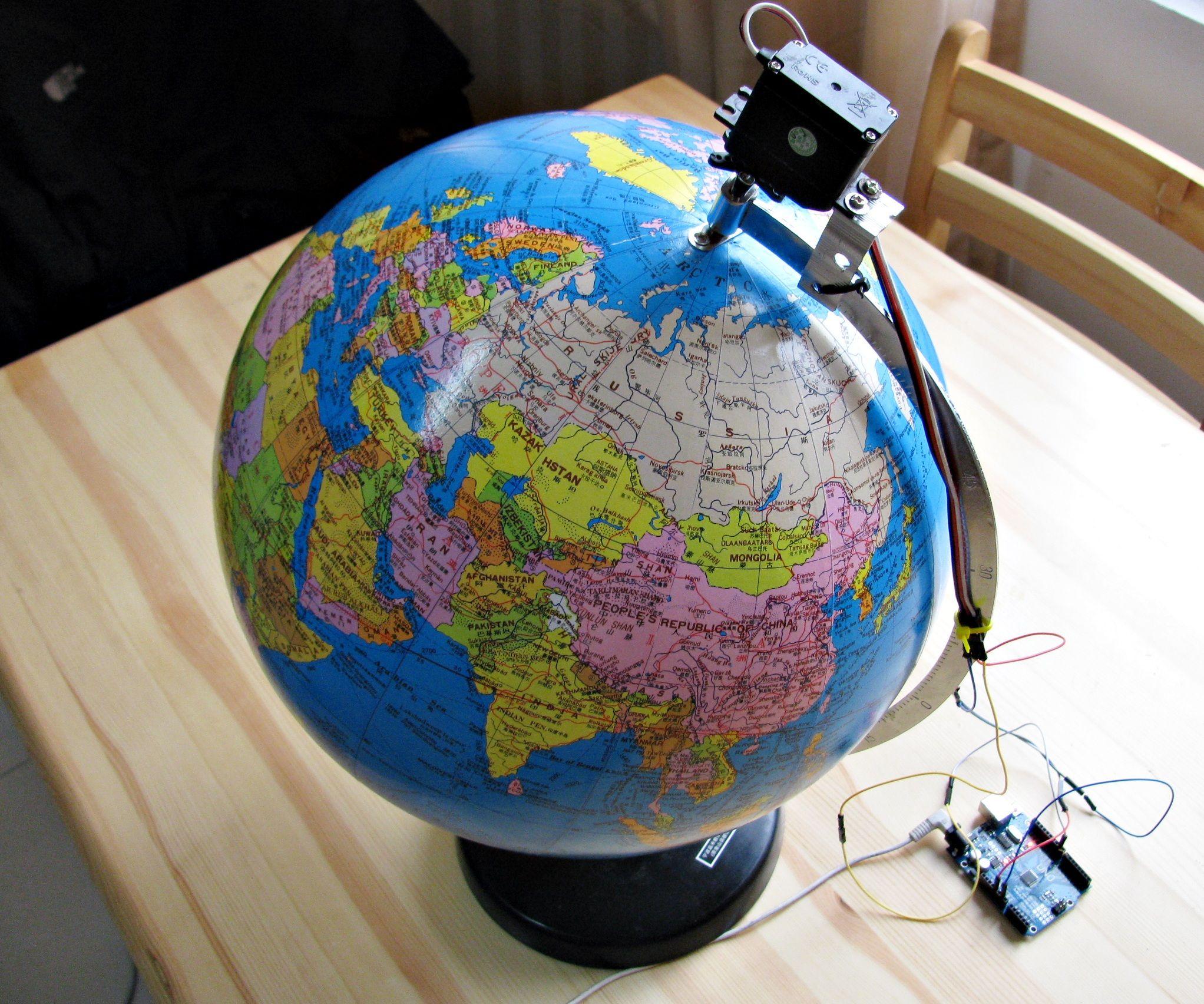 Motorized World Globe