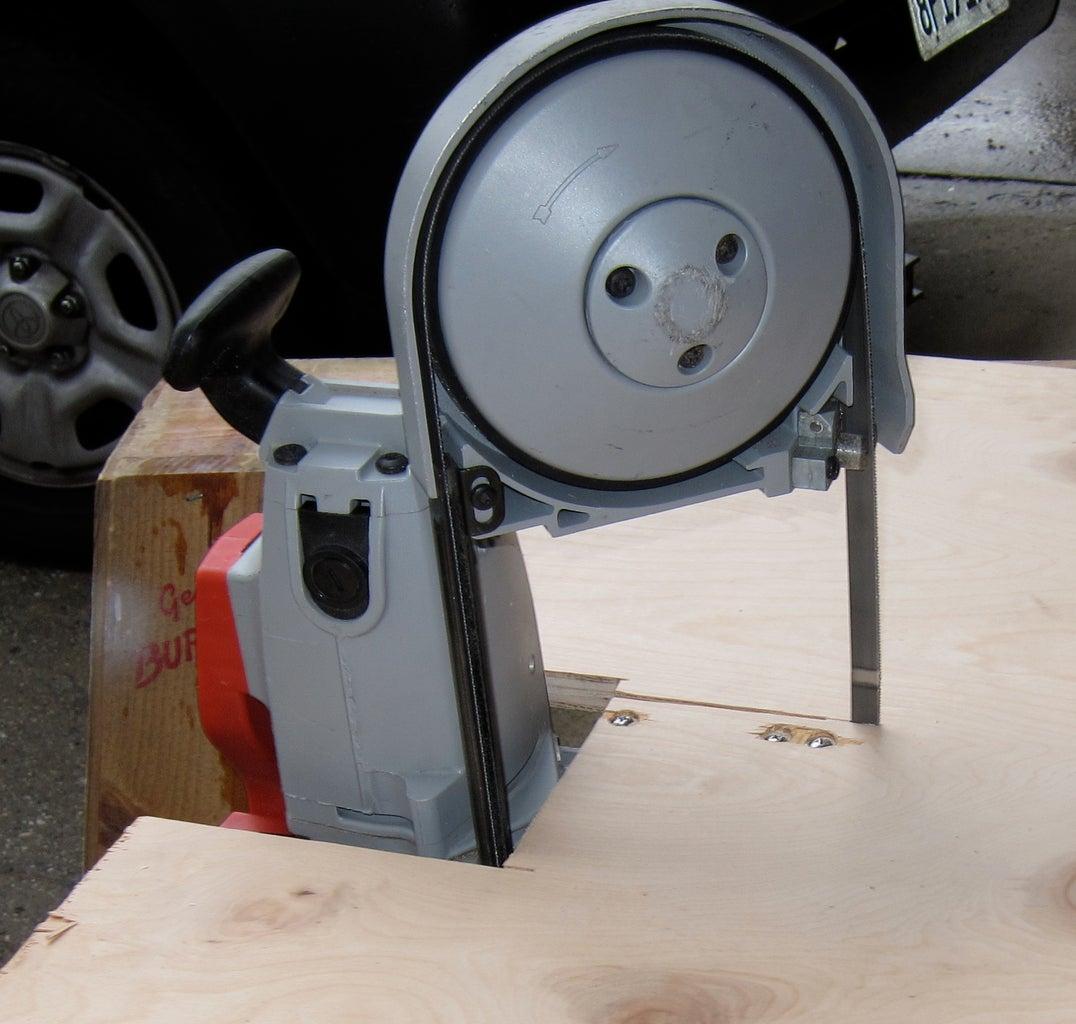 Make a Portaband Into an Vertical Band Saw