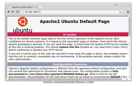 Open Your New Web Server Running on Ubuntu