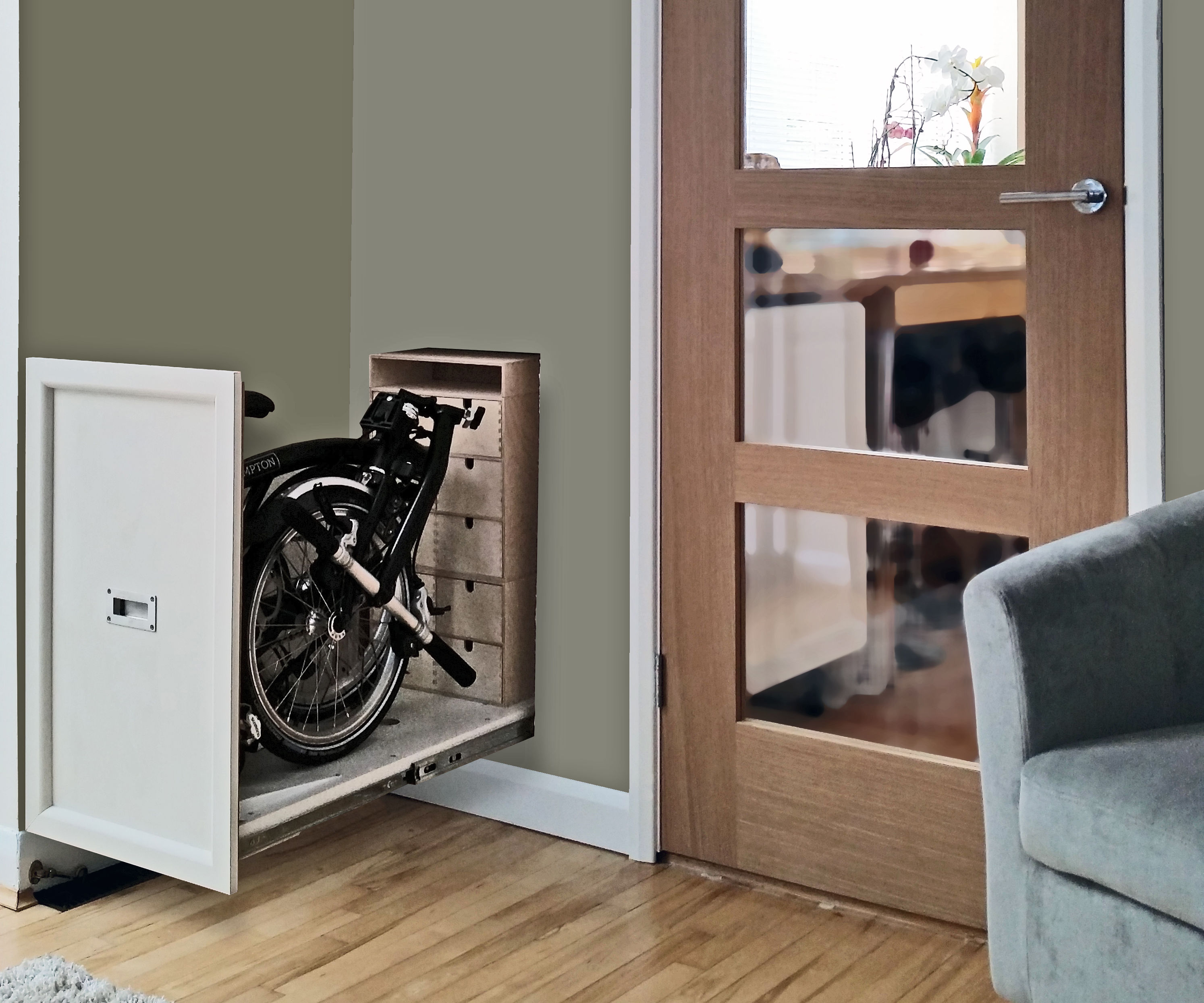 Brompton Bike Hidden Storage Cupboard