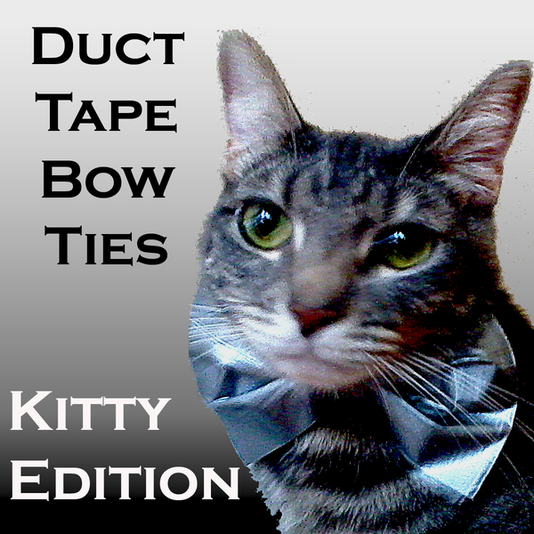 Duct Tape Bow Tie - Kitty Cat Edition