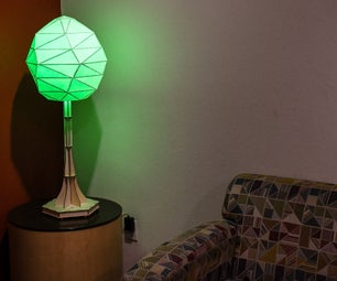Cardstock Corner Lamp