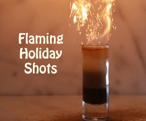 3 Flaming Holiday Shots