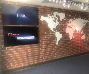 Smart World Map With Data Screens and DMX Programmable Lighting