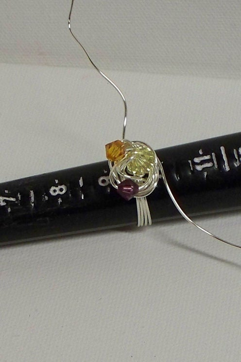 Triple Crystal Wire Wrapped Crystal Ring