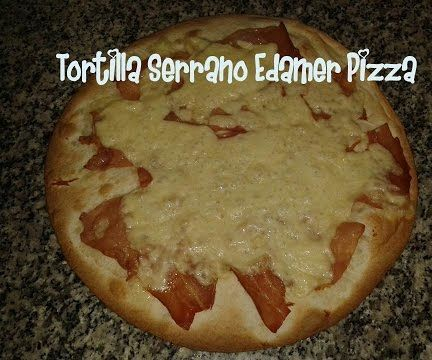 Tortilla Pizza Serrano & Edamer Recipe