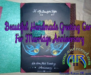 Beautiful and Easy Greeting Card for Wedding Anniversary