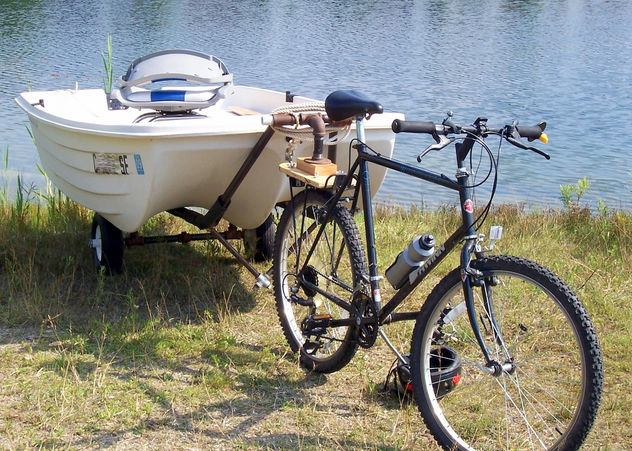 Tow a Boat with a Bike