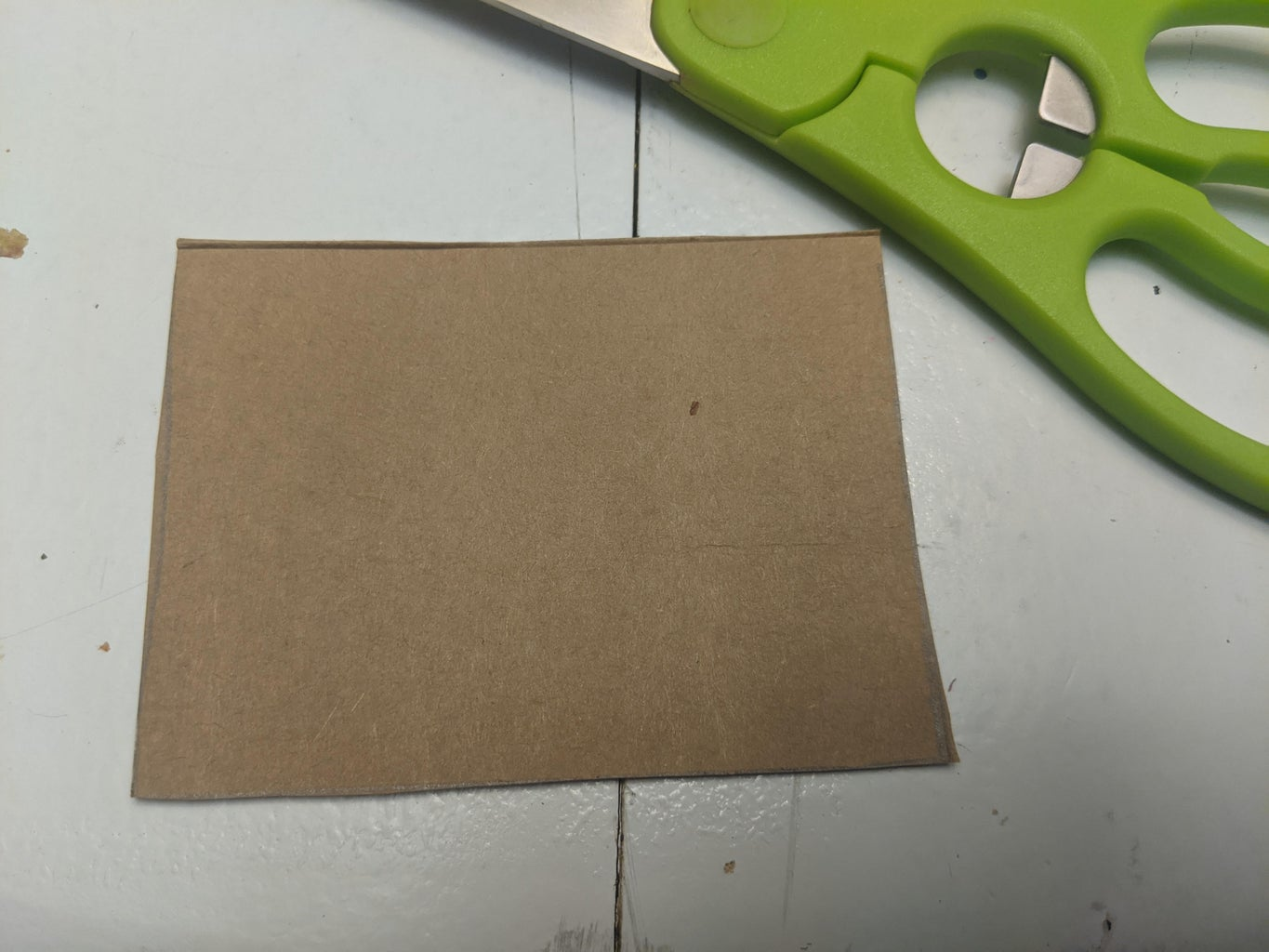 Cut Out a Nametag-sized Rectangle.