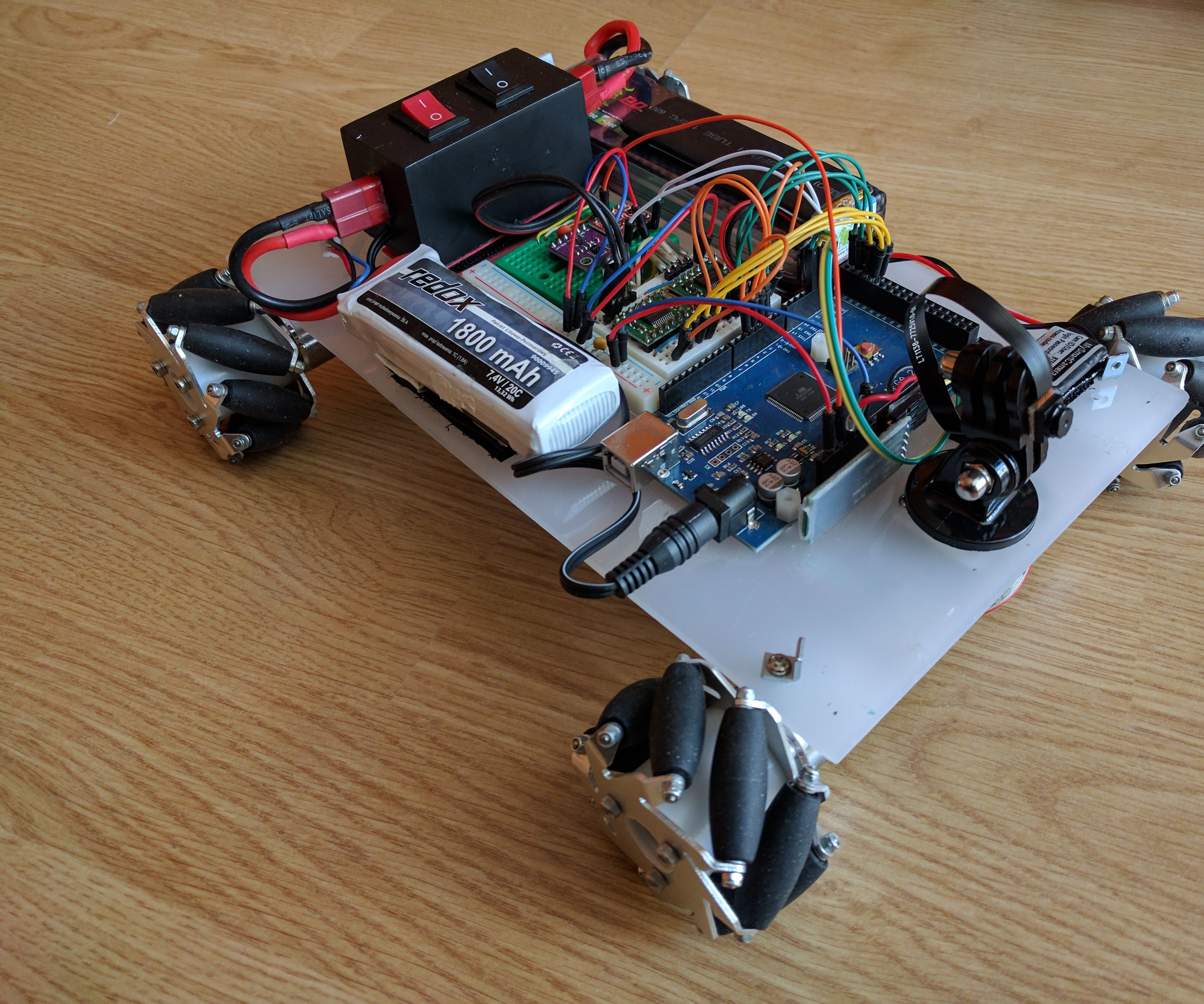 Voice and Gesture Controlled Mecanum Wheel Robot