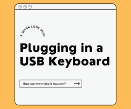 How to Plug in a USB Keyboard