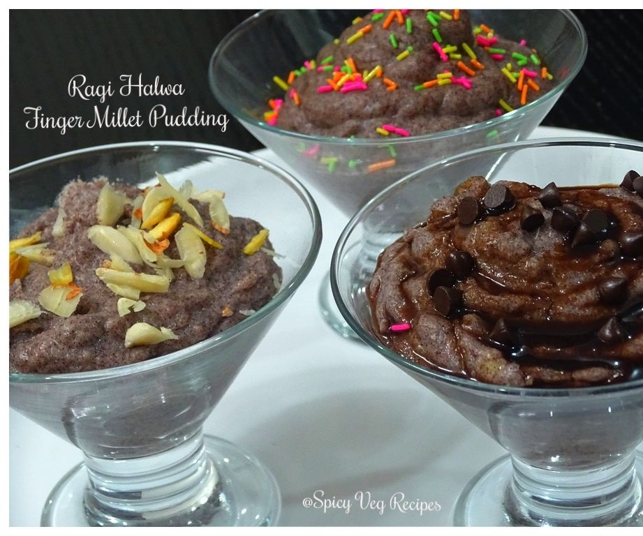 Ragi Halwa-Finger Millet Pudding-Nachani Halwa