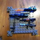 collection of lego guns