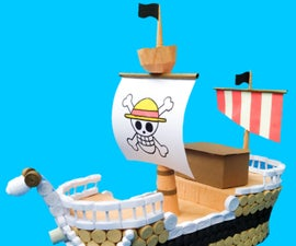 Paper Quilled Ship (inspired by One Piece)