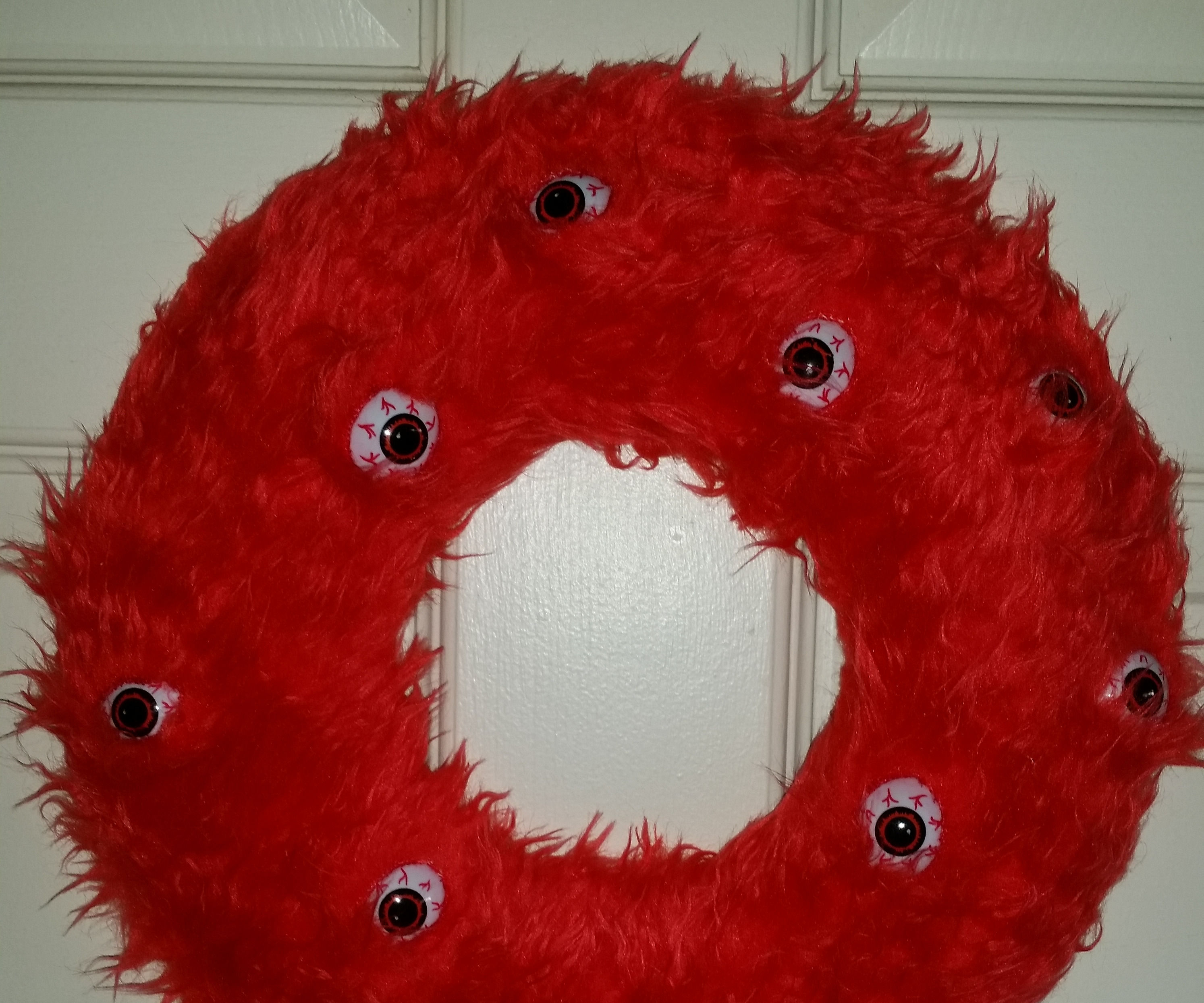 Cheap Monster Wreath (With Cats)