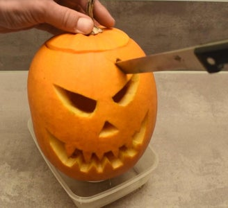 Stick the Knife Into the Pumpkin