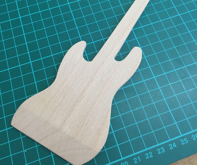Wooden Fender Bass Spatula