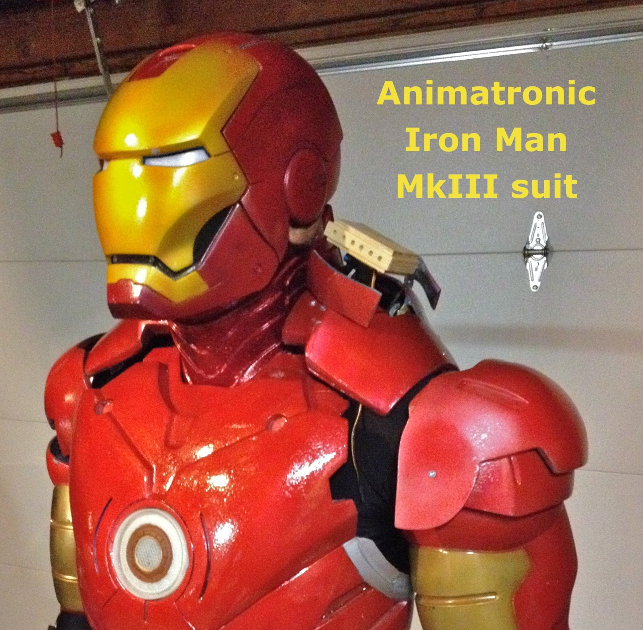 Animatronic Iron Man Mk III suit
