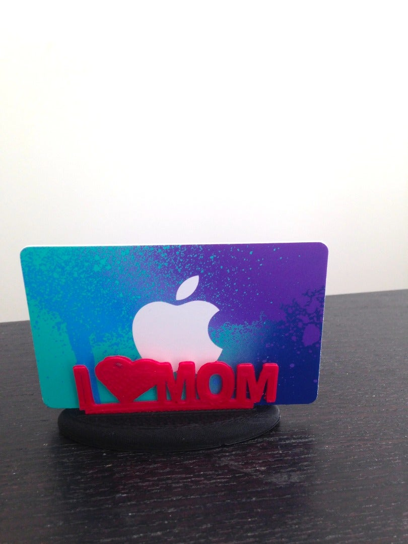 Add the Base to Gift Card Holder