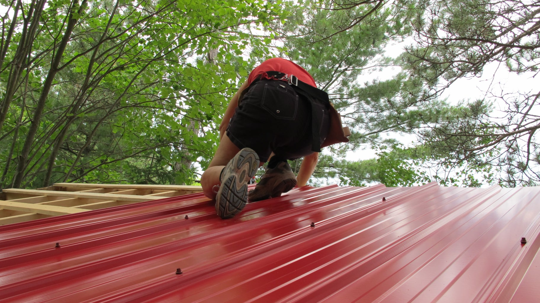 Metal Roofing on a New Roof