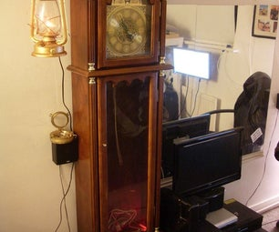 Steampunked Grandfather Clock.