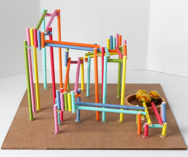 How to Build a Straw Roller Coaster