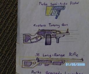 Custom Tommy Gun (Cardboard) DISCONTINUED Soz