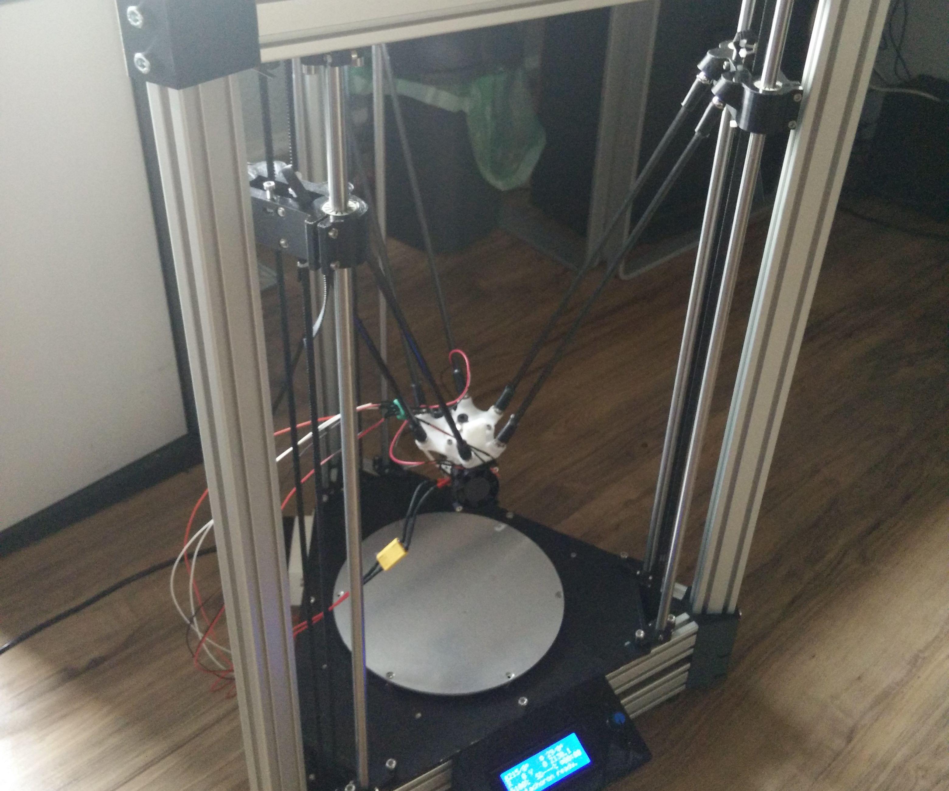 Pentachoron - Delta 3D Printer with Auto Bed Leveling