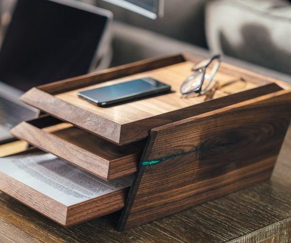 A Modern 3-Tier Paper Organization Tray