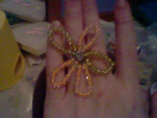Make a Chunky Flower Ring