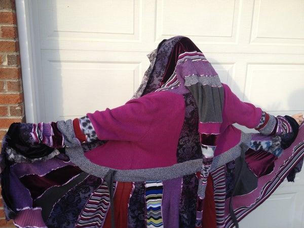 Upcycled Sweater/Fabric Coat