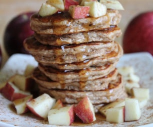 Apple Oat Protein Pancakes