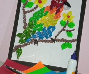 Colourfull Rainbow Parrot With Quilling Art by Anjali Mahato.