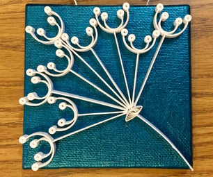 Quilled Paper Dandelion Poof
