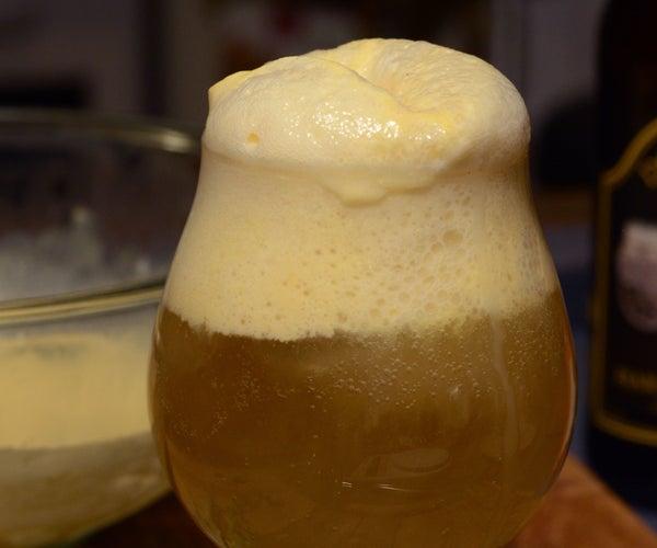 Hard Cider Float With Pumpkin Sage Ice Cream