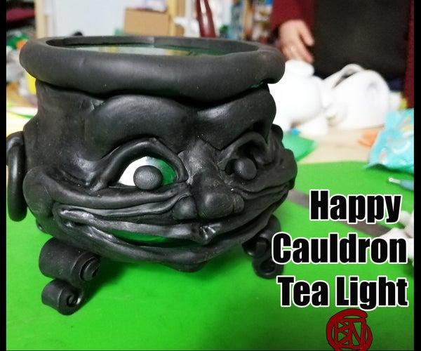 Happy Cauldron Tealight