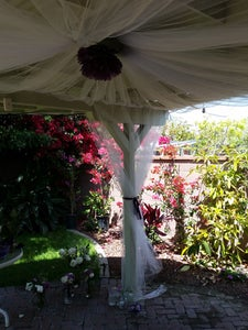 DIY Draping for Patio for Only $50