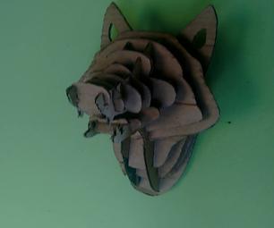 DIY - Cardboard Hunting Trophy (wolf  Head)