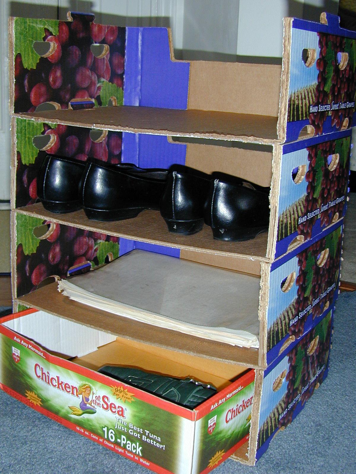 Cardboard shelves & storage