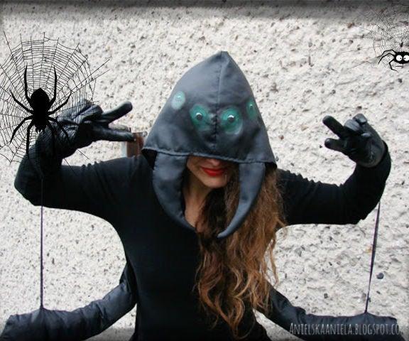 Last Minute Halloween Spider Costume