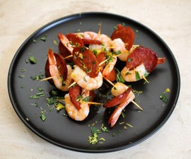 Chorizo and Prawn Skewers